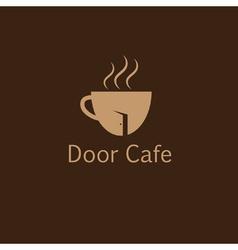 door cafe design template vector image