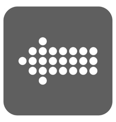 Dotted arrow left flat squared icon vector