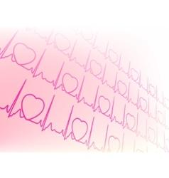 electrocardiogram waveform vector image vector image