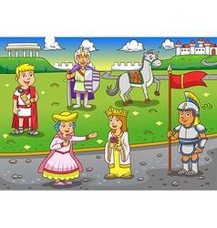 Greek Roman cartoon vector image vector image
