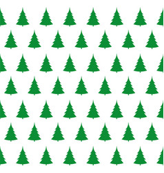 green christmas trees pattern vector image