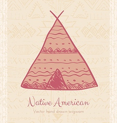 Indian Wigwam Tribal Background vector image