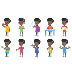 little african girl set vector image vector image