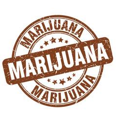 marijuana brown grunge round vintage rubber stamp vector image vector image