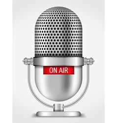 Microphone On The Air vector image