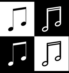 Music sign black and white vector