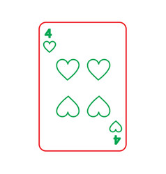 Poker playing heart card casino gambling icon vector