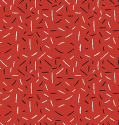 Red hand drawn xmas seamless pattern with lines vector image vector image