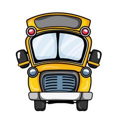 school bus transportation to education travel vector image