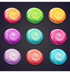 Set of candies of different colors for computer vector image