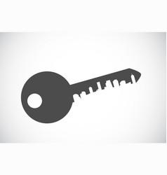 silhouette key icon vector image