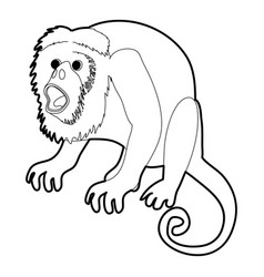 Surprised monkey icon outline vector