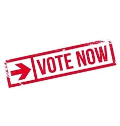 Vote now stamp vector