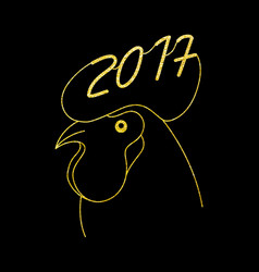 zodiac gold rooster new year symbol vector image vector image