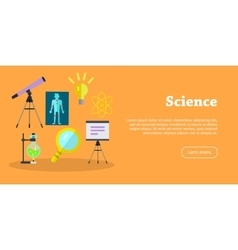 Science banner scientific equipment research vector
