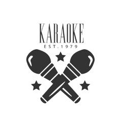 Crossed microphones karaoke premium quality bar vector