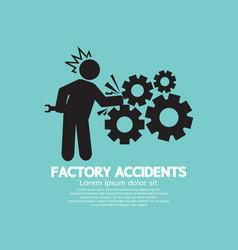 factory accidents black symbol vector image