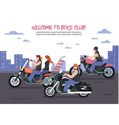 biker club background vector image