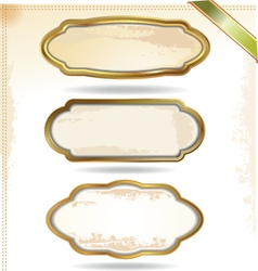 Gold frames in vintage style vector image