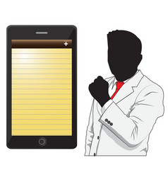 Business man and phone vector