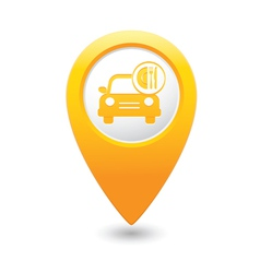 Car with fast food icon pointer yellow vector