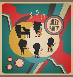 274abstract jazz band poster vector image vector image