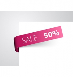 Retail sale tag vector