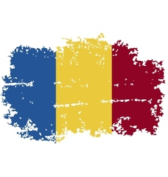 Romanian grunge flag vector