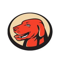 labrador golden retriever dog head vector image