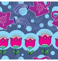 flower garden pattern vector image