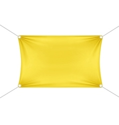 Yellow blank empty horizontal rectangular banner vector