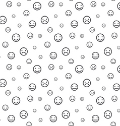 Smiley faces seamless pattern background vector