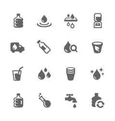 Simple Water Icons vector image