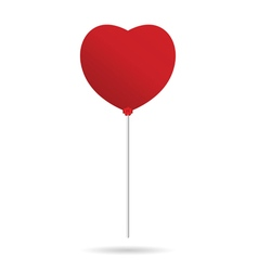 Heart balloon in red vector