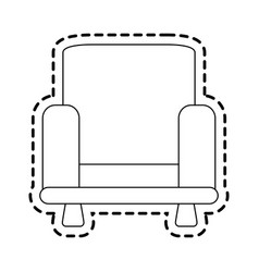 Armchair sofa icon image vector