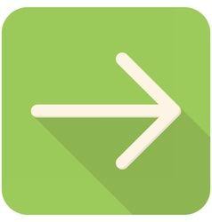 Arrow right icon vector image