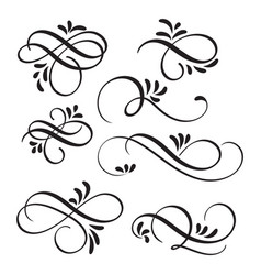 art calligraphy flourish of vintage decorative vector image vector image
