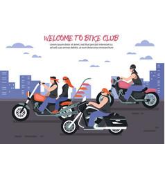Biker club background vector