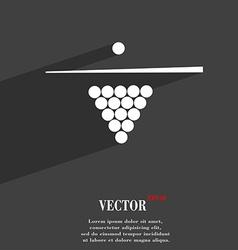 Billiard pool game equipment symbol flat modern vector