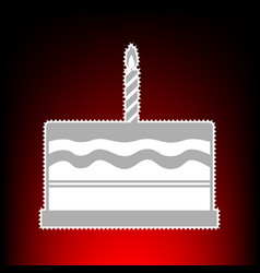 Birthday cake sign postage stamp or old photo vector