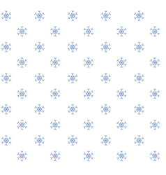 blue snowflakeson white background vector image