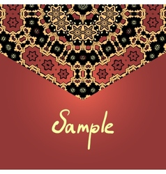 Brown half-full mandala frame pattern vector image vector image