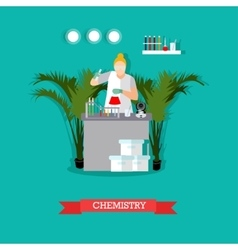 Chemistry laboratory and vector