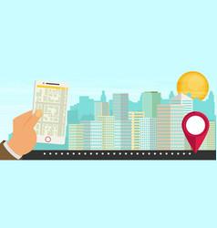 city navigation web banner flat vector image