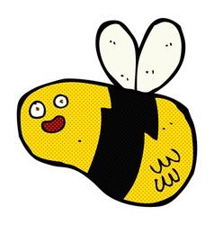 comic cartoon bee vector image