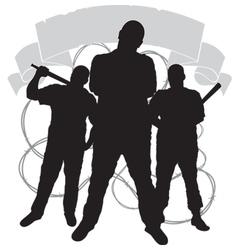 criminal clan emblem vector image vector image