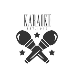 Crossed Microphones Karaoke Premium Quality Bar vector image vector image