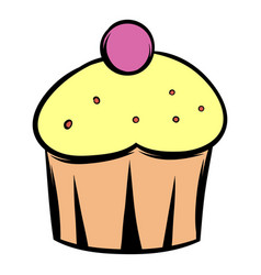 cupcake icon cartoon vector image vector image
