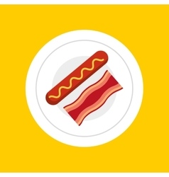 delicious breakfast menu icon vector image