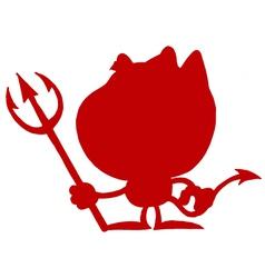 Devil silhouette cartoon vector image vector image